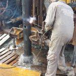 rivestimento pozzo tubi in acciaio nero
